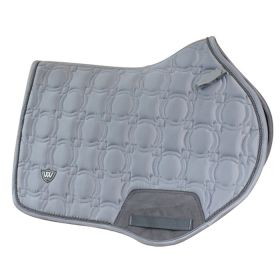 Woof Wear Vision Close Contact Saddle Pad - Brushed Steel