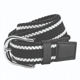 Dublin Stripe Webbing Belt - Black - White