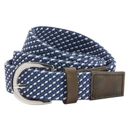 Dublin Webbing Belt - Navy White
