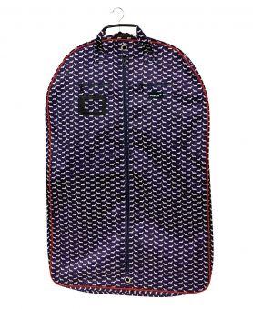 Dublin Imperial Coat Bag Dog Print Navy/Red