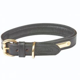 Weatherbeeta Padded Leather Dog Collar - Black