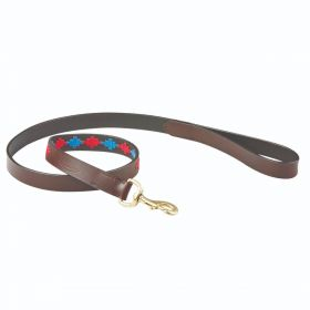 Weatherbeeta Polo Dog Lead 1.2m - Beaufort/Brown/Pink/Blue