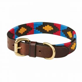 Weatherbeeta Polo Dog Collar - Cowdray/Brown/Pink/Blue/Yellow