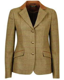 Dublin Albany Childs Tweed Jacket with Suede Collar