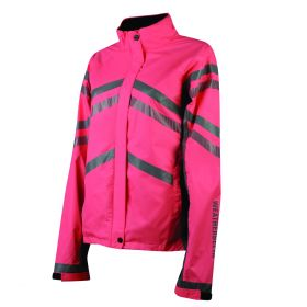Weatherbeeta Reflective Lightweight Waterproof Jacket - Childs - Pink - WeatherBeeta