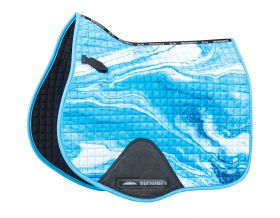 Weatherbeeta Prime Marble All Purpose Saddle Pad - Blue Swirl