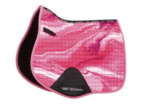 Weatherbeeta Prime Marble All Purpose Saddle Pad - Pink Swirl