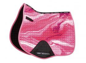 Weatherbeeta Prime Marble All Purpose Saddle Pad-Pink-Full (Large) Clearance - WeatherBeeta