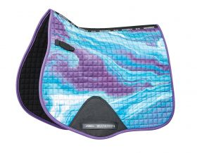 Weatherbeeta Prime Marble All Purpose Saddle Pad - Purple Swirl
