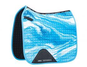 Weatherbeeta Prime Marble Dressage Saddle Pad - Blue - WeatherBeeta