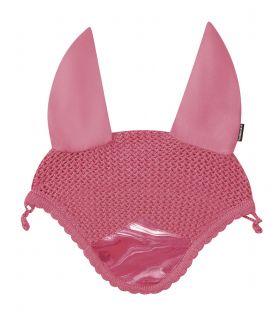 Weatherbeeta Prime Marble Ear Bonnet-Pink-Full (Large) Clearance - WeatherBeeta