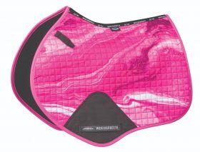 Weatherbeeta Prime Marble Jump Shaped Saddle Pad-Pink-Full (Large) Clearance - WeatherBeeta