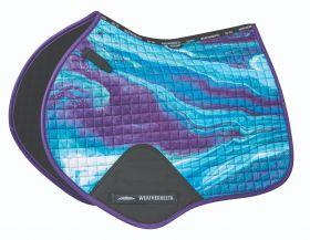 Weatherbeeta Prime Marble Jump Shaped Saddle Pad - Purple