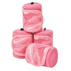 Weatherbeeta Prime Marble Fleece Bandage 4 Pack-Pink Clearance - WeatherBeeta