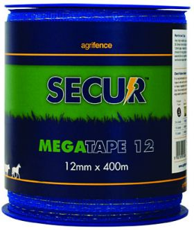 Agrifence Megatape Reinforced Tape (H4756) - Blue - 12mm x 200m