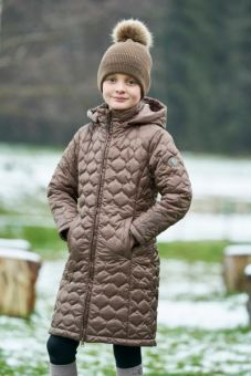 Covalliero Childs Quilted Coat - Cappuccino - Covalliero