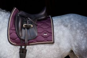 PS of Sweden Monogram Dressage Saddle Pad Wine Full