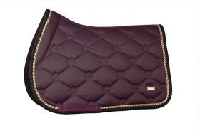 PS of Sweden Monogram Jump Saddle Pad Wine Full