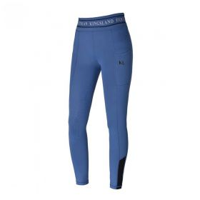 Kingsland KLkarina Ladies F-Tec Comp. Tights with Full Silicone Grip-Moonlight Blue-Large 14-16 Clearance