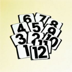 Stubbs Screw On Steel Arena Numbers 1-15 - Special Order Item - Stubbs