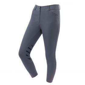 Dublin Pro Form Gel Knee Patch Breeches-34 Ladies EU 44 UK 16-Charcoal Clearance - Dublin