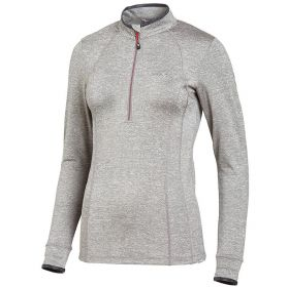 Schockemohle Page Style Ladies Functional Shirt-Grey Melange Cherry-Medium