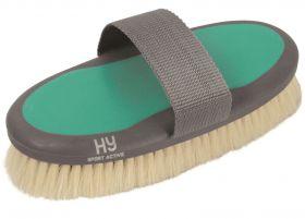 HySHINE Active Groom Goat Hair Body Brush Midnight Navy - HY