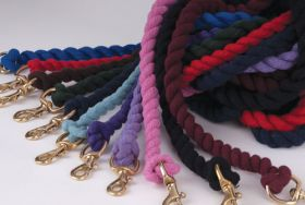 Rhinegold Cotton Lead Rope With Brass Trigger Hook