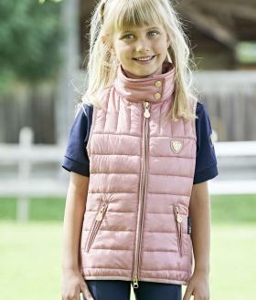 Covalliero Childs Quilted Waistcoat SS21 - Rose