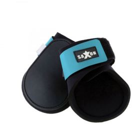 Saxon Contoured Fetlock Boots - Black Blue