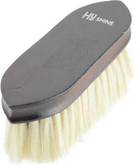 HySHINE Deluxe Goat Hair Wooden Dandy Brush - Dark Brown - 18 x 5.7cm
