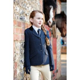 Dublin Cubbington Childs Tweed Jacket -Navy-30 - Clearance