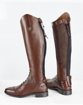 Just Togs Kensington Tall Riding Boots - Brown - 38 - UK 5 - Wide - JustTogs