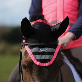Weatherbeeta Reflective Ear Bonnet - Pink - WeatherBeeta