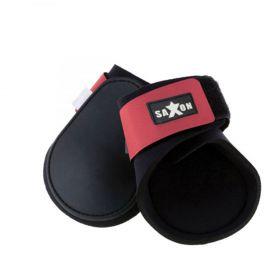 Saxon Contoured Fetlock Boots - Black Pink
