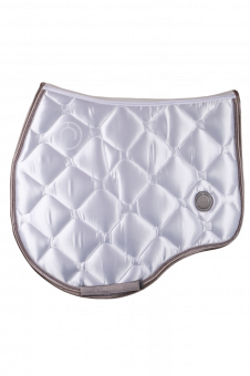 Montar Deluxe Jump Saddle Pad-White-Full (Large) - Montar