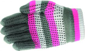 Hy5 Magic Striped Gloves - Pink/Grey
