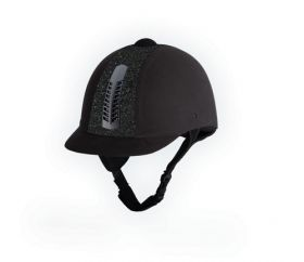 Rhinegold 'Glitter' Pro Riding Hat Adult Sizes 56 to 59cm Black