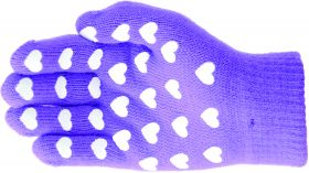 Hy5 Magic Patterned Gloves - Purple with Hearts - Child