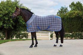 WeatherBeeta Fleece Cooler Standard Neck Grey Plaid
