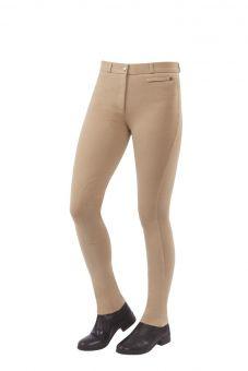 Dublin Momentum Supa-Fit Zip Up Knee Patch Jodhpurs-32 Ladies EU 42 UK 14-Beige Clearance - Dublin