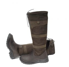 Rhinegold Elite Skye Waterproof Country Boot - Waxy Brown