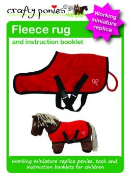 Crafty Ponies Fleece rug and instruction booklet Red