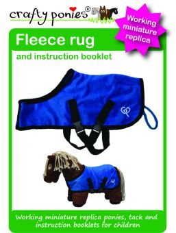 Crafty Ponies Fleece rug and instruction booklet Royal Blue