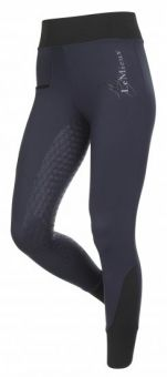 LeMieux Activewear Pull On Seamless Breech Navy