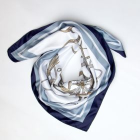 PS of Sweden Adine Scarf Navy-Aqua - Clearance - PS of Sweden