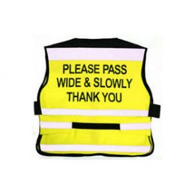 Equisafety EN1150 Air Waistcoat Pass Wide & Slowly Fluorescent Yellow