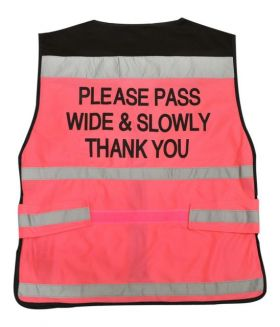 Equisafety EN1150 Air Waistcoat Pass Wide & Slowly Fluorescent Pink