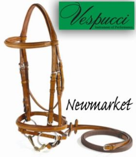 Amerigo Flash Bridle with Rubber Reins Newmarket