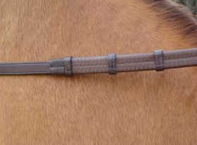 Amerigo Hand Grip Rubber Reins  Brown